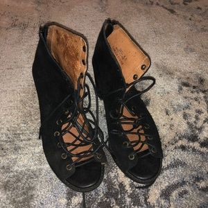 Jeffrey Campbell Lace Up Open Toe Heels